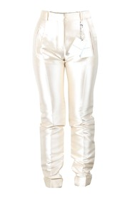 Champagne Silk Fitted Pants