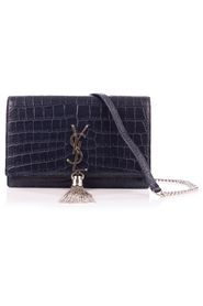 Croc Embossed Kate Tassel Bag