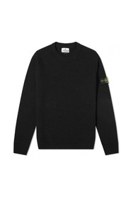 Logo-patch knitted jumper