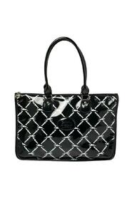 Printed Patent Leather Satchel