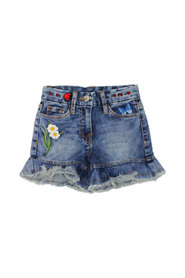 FLOWER JEANS SHORTS