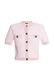 Cardigan with short sleeves