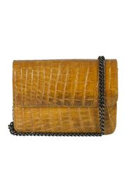 KENZINA - Mbour Krokodille Clutch - Curry Yellow