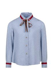 MICROPOIS SHIRT WITH BAND AT THE COLLAR AND CUFFS