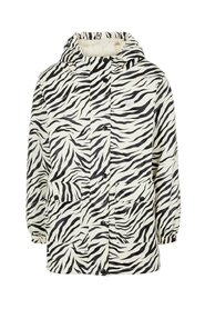 Rain jacket teddy lined zebra print