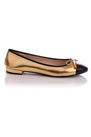 Patent Leather Bow Cap Toe Ballet Flats