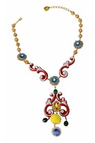 CARRETTO Crystal Floral Statement Necklace