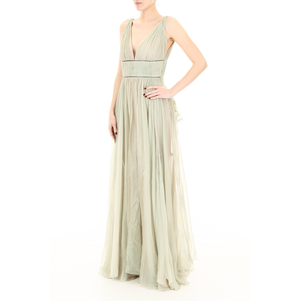Green Sage silk and crystal dress | Maria Lucia Hohan | Festliche Anlässe | Damenbekleidung