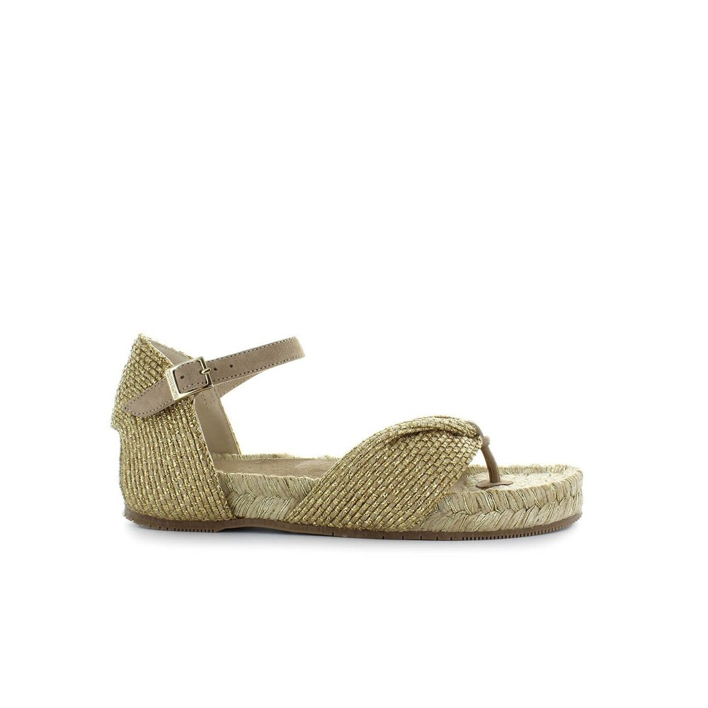 CLINOPODIO GOLD THONG SANDAL