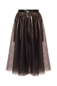 Leopard-printed skirt