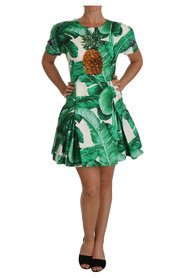 A-Line Dress Banana Leaf cristallo Ananas