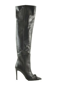 Leather High Heel Over-the-Knee Boots