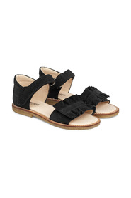 Sandal With Ruffle And Velcro