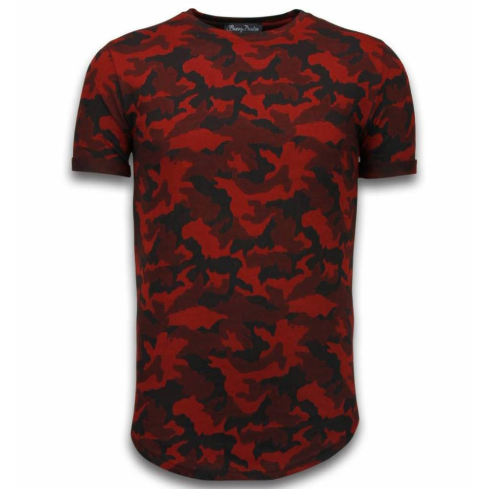 Casual Camouflage Pattern Aired Slim Fit T-shirt