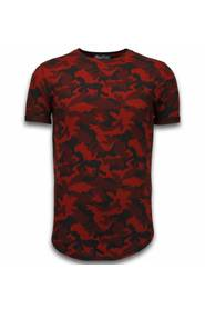 Casual Camouflage Pattern Luftad Slim Fit T-shirt