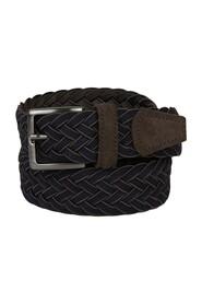 Braided suede leather belt