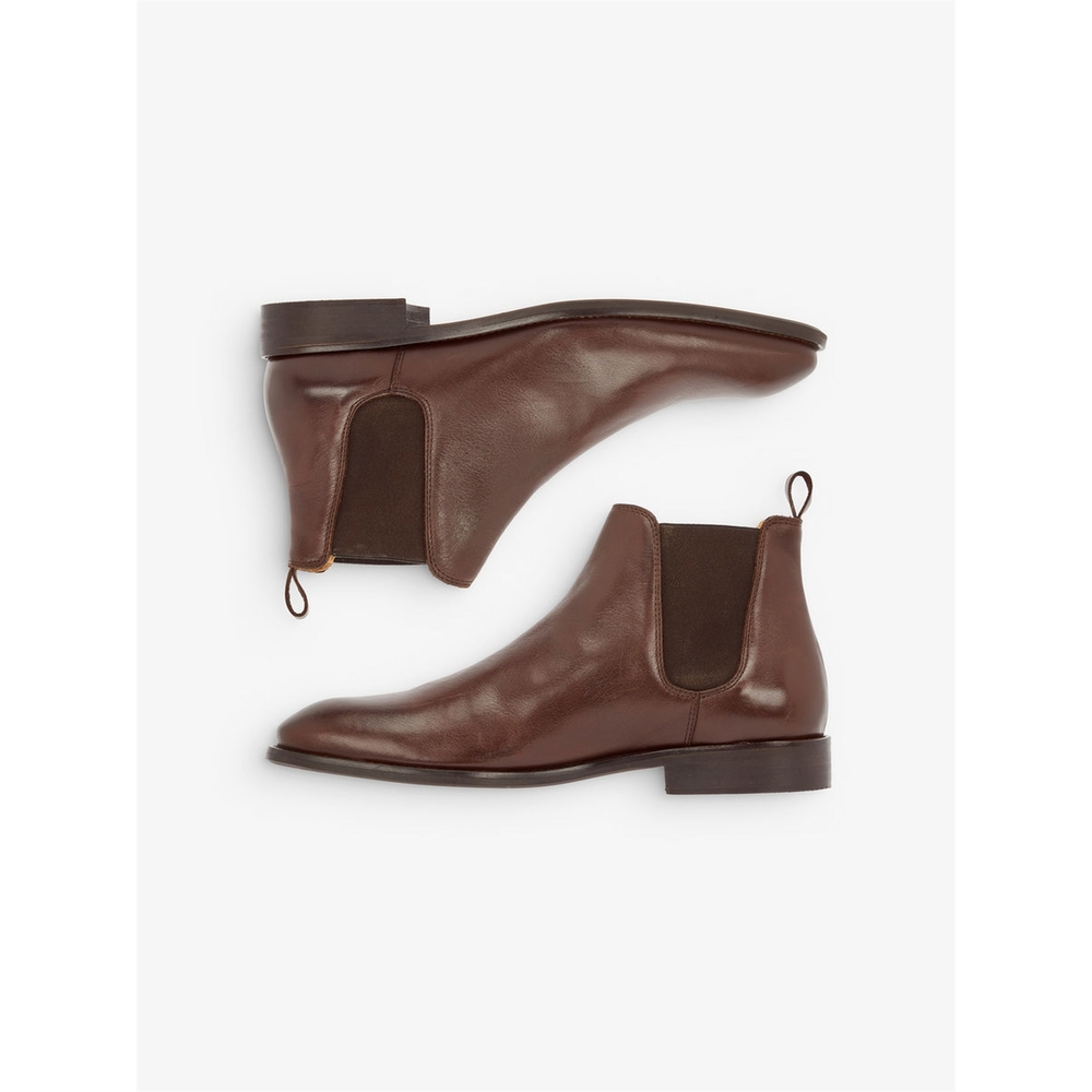 mens leather Chelesa boots
