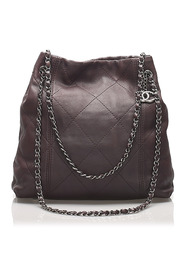 Surpique Lambskin Leather Shoulder Bag
