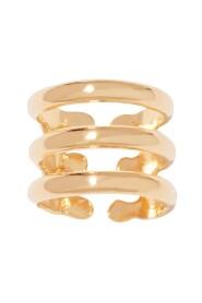 Esteban triple open gold plated ring