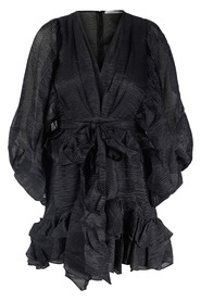Naleya Ruffle Dress dark wave