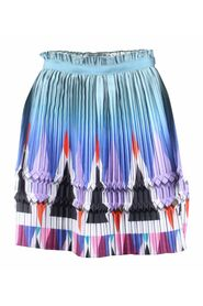 Geometric Print Plated Skirt