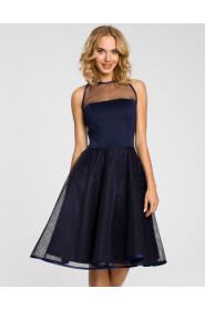 Sukienka wieczorowa odcinana w pasie M148