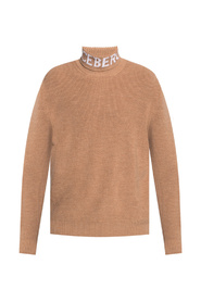 Turtleneck sweater with logo