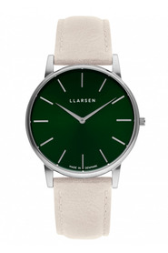OLIVER - Steel watch Stone leather