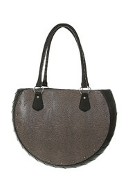 COBRA GRAY ECO-LEATHER BAG MADE WITH NON-TOXIC RUBBER PART