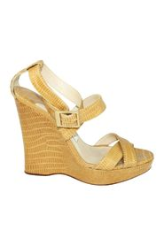 Print Strappy Wedges