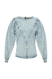 Denim top with long sleeves