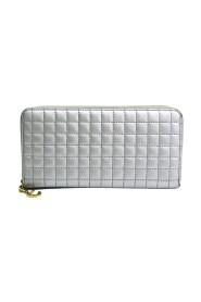 Brukt C Charm Large Zipped Wallet Quilting 10B55 3BFR Calfskin Long Wallet (to ganger)