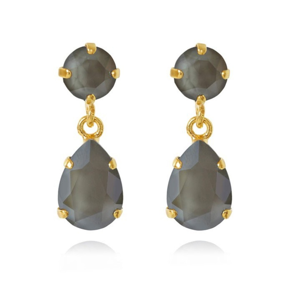 Caroline Svedbom Mini Drop Earrings Dark grey