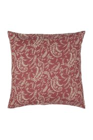 Pillowcase 4 x raspberry colored with beige flowers