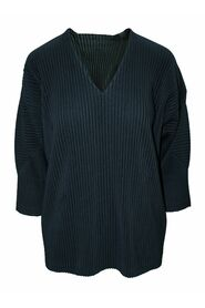 Pre-owned Pleated V-neck Top