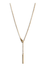 Faceted Anchor Chain, gold-plated sterling silver