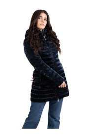 Long midnight effect down jacket