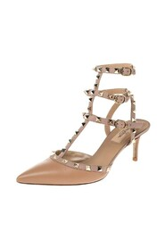 Pre-owned Rockstud Pointed Toe Sandals