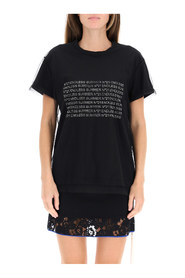 logo t-shirt with crystals