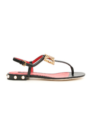 Sandals with logo buckle