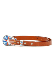 Multicolor buckle belt