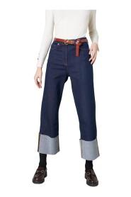 Jeans con risvolto ampio