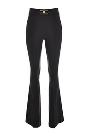 Bell-bottom trousers with logo