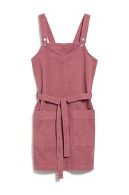 Pink fitted overalls dress in organic cotton - Leoniaa dress