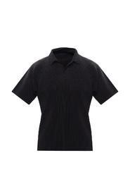 Pleated polo shirt