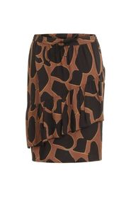 SKIRT IN LAVA PRINT W.TIE BAND AT WAIST