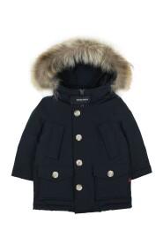 giacca Arctic Detachable Fur Parka bambino in tessuto Ramar idrorepellente melton