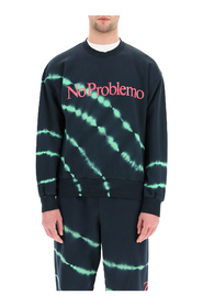 sweatshirt with no problemo neon print