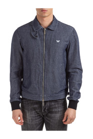 men's denim outerwear jacket blouson