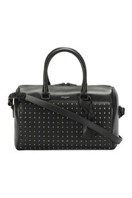 Begagnad Studded Classic Baby Duffle Leather Satchel